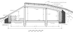 Solar Pit House - cross section