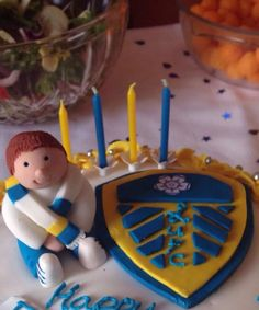 Leeds United Football Club Cake. Vanilla buttercream, homemade raspberry jam.