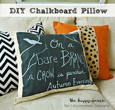 DIY Pottery Barn Inspired Chalkboard Pillow