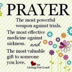 The power of prayer. God grants prayers for complete healing. To regain good health and vitality. The strength to never give up/quit, bear unfavorable work situation that's been happening for years, keep understanding everything and everyone, maintain kindness and optimism and the will to keep going, working and living. Praying wholeheartedly for the best for my one true ❤️