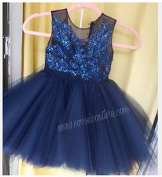 Blue Tulle Skirt, Blue Tutu, Navy Blue Flowers, Navy Blue Color, Couture Dresses, Skirt Fashion, Color Combinations, Special Occasion, Flower Girl Dresses