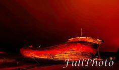 Red Boat Wreck Photography - 4x6 -8x10 -8x12 -11x14 -12x18 -16x20 -16x24 -20x24 -20x30 -24x36