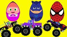 (New) Surprise Eggs For Kids - Masha And PJ Masks , Spiderman , HULK Sur...