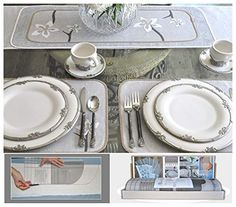 DIY Table, Decorating Kit, No Sew, Table Runners, Placemats, Centerpieces, Dresser Scarves, Multi-Style, Includes Six Styles Table Runner And Placemats, Table Runners, Tie Up Curtains, Country Curtains, White Faux Wood Blinds, Bamboo Roman Shades, Wood Valance, Table Centerpieces, Table Decorations