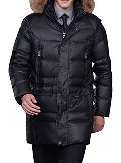 COLL Men's Winter Warm Casual Fur Hooded Parka Mid Long Down Coats  http://www.yearofstyle.com/coll-mens-winter-warm-casual-fur-hooded-parka-mid-long-down-coats-2/