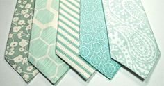 forget that these are ties.... the mint green honeycomb pattern is really nice!!