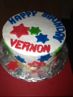 Vern's birthday cake 2013