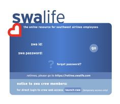 SWALife Login Page