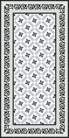 Barcelona Rose of the Winds Gray -visual n ° 2 Tiled Hallway, Hallway Flooring, Kitchen Flooring, Kitchen Dining, Dining Room, Floor Patterns, Tile Patterns, Textures Patterns, Victorian Pattern