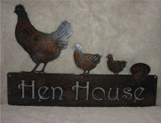 Hen House Metal Art Metal Sign by frolicnfibers on Etsy, $25.00