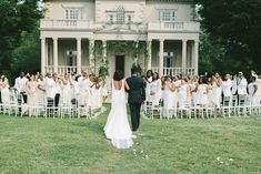 Outdoor all white ceremony Wedding Blog, Wedding Events, Wedding Planner, All White Wedding, Martha Stewart Weddings, Dc Weddings, Event Design, Event Planning, Photography