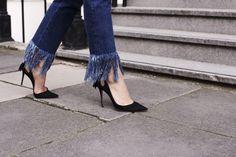 Those Frayed Denim Jeans (Harper & Harley) In Vivo, Frayed Hem Jeans, Denim Jeans, Cropped Jeans, Street Style Inspiration, Italian Furniture Brands, Beautiful High Heels, Trends, Australian Fashion