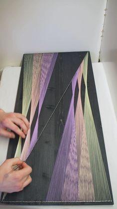 Diy Crafts For Home Decor, Diy Crafts To Do, Diy Crafts Hacks, Diy Arts And Crafts, Creative Crafts, Diys, String Art Tutorials, String Art Patterns, String Wall Art