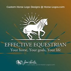 Custom Horse Logo Designs @ Horse-Logos.com  This #horselogo #design was created for Effective Equestrian #horseart #equine #horse #logo Horse Logo, Horse Art, Custom Logos, Playground, Equestrian, Logo Design, Clip Art, Horses, Children Playground