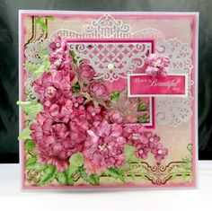 The Pretty Paper Patisserie: HEARTFELT CREATIONS SWEET PEONY COLLECTION CARD - Have a Beautiful Day