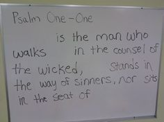 Erase the Verse.-- Erase a word or two at a time, each time have students try to say the verse.