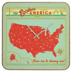 Anderson Design Group Explore America Custom Clock