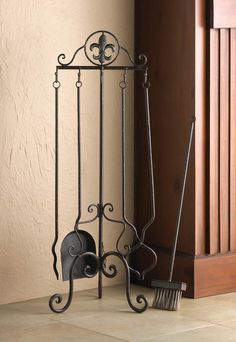 Fleur-De-Lis Fireplace Iron Tool Set – cheapbuynsave.com