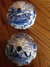 Delft Holland Trinkets Pots.