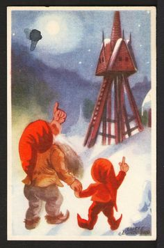 The illustrator of children's books Lucie Sperling was born in Riga in 1908 in a German family. After the First World War, the family moved to Berlin where Lucy had her artistic training. Greatest Adventure, Old Postcards, Tolkien, Goblin, Faeries, The Hobbit, First World, Troll, Childrens Books