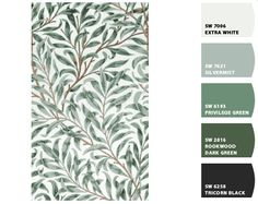 william morris green colour palette I like silver mist for the kitchen Green Colour Palette, Colour Palettes, Green Colors, Colour Combinations, Colour Schemes, Silver Mist, Paint Chips, Arts And Crafts Movement, Color Stories