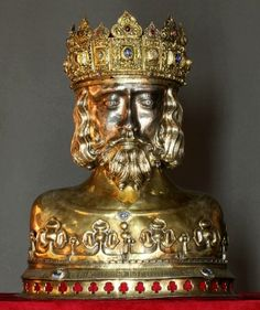 Reliquary of Saint Sigismund with the Płock Diadem by Anonymous from Kraków (reliquary) and Anonymous from Hungary or Germany (diadem), second quarter of 13th century, 1370, Muzeum Diecezjalne w Płocku, in 1601 Sigismund III Vasa ordered the diadem to be placed on the reliquary