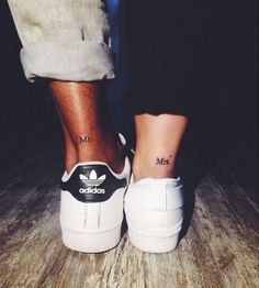 Here are Tiny Couples Matching Tattoos Ideas for every tattoos lover couple. Please check and get ideas about having matching tattoos with your partner. You can express your feelings about these tattoos in comments below. Little Tattoos, Mini Tattoos, Trendy Tattoos, Body Art Tattoos, Sleeve Tattoos, Tattoos For Women, Tattoos For Couples, Small Tattoos, Thigh Tattoos