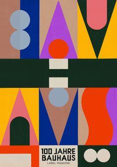 Ola Niepsuj - Bauhaus poster for Label Magazine Graphic designers and illustrato. - Ola Niepsuj – Bauhaus poster for Label Magazine Graphic designers and illustrators celebrating 10 - Poster Design, Graphic Design Posters, Graphic Design Inspiration, Typography Design, Graphic Designers, Quote Typography, Typography Prints, Hand Lettering, Bauhaus Art