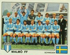 Malmo FF of Sweden in 1978-79. Football Soccer, Baseball Cards, 1970s, Sports, Community, Sweden, Hs Sports, Sport, Communion