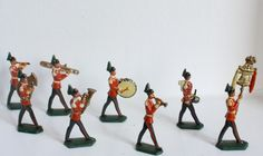 Vintage Lead Toy Soldier Set Band by VioletBlacVintage on Etsy