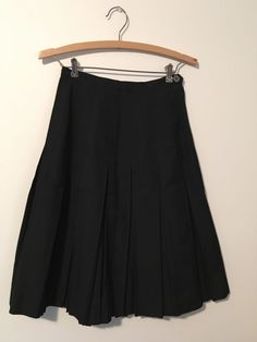 1950s Vintage Darkest black Cotton skirt Pleated Swing Rockabilly  #Notag