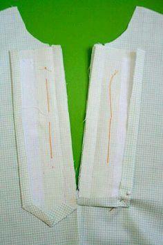 Sewing Tutorials Jump Rope Dress Sew-Along ~ Placket Markings Sewing Lessons, Sewing Hacks, Sewing Tutorials, Sewing Tips, Techniques Couture, Sewing Techniques, Dress Sewing Patterns, Clothing Patterns, Sewing Collars
