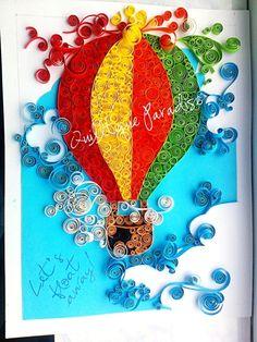 Quilled hot air balloon by Madalina Dirdara