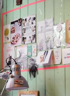 inspiration for your workspace ~ find more on the blog Tin Roof Farmhouse: Five Faves for Friday…Crafty Studio Spaces