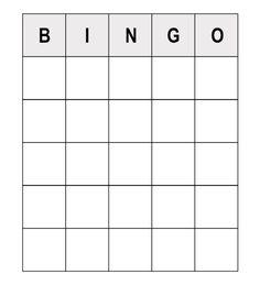 Human Bingo Template