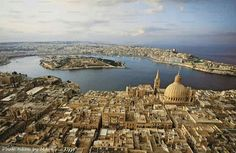 Valletta from the sky - Malta Taxi Online +35699977761