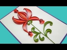 Quilling Made Easy | How to make Beautiful Flower Design | Paper Quilling Art - YouTube