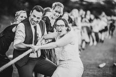 bride tug o war sport day games at wedding. Tug of war wedding. Outdoor Ceremony, Wedding Ceremony, Our Wedding, Sports Day Games, Lawn Games Wedding, Garden Games, Tug Of War, Marquee Wedding, Getting Married