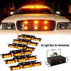 Enthusiastic 12 Led Amber Light Emergency Warning Strobe Flashing Auto Car Truck Bar Hazard The Latest Fashion Atv,rv,boat & Other Vehicle