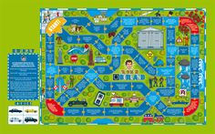 """UBER Board Game Illustration for Fast Company Magazine - Rod Hunt has recently contributed to Fast Company's """"Most Innovative Companies their annual guide to the state of innovation in the World economy, illustrating a board game for UBER, the mobil… Easy Math Games, Fun Icebreaker Games, Fun Icebreakers, Fun Group Games, Educational Board Games, Board Game Template, Printable Board Games, Theme Park Map, Homemade Board Games"""