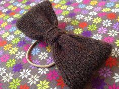 Sweater refashion hair bow