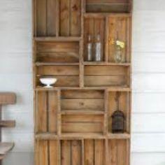 Outdoor-Wohnzimmer Holzregal Gartenregal Terrassenmöbel Reclaimed Bauernhof produzieren Kiste D .