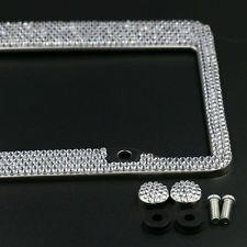 Swarovski Crystal License Plate Frame Licence Holder Womens Car Accessories in eBay Motors, Parts & Accessories, Car & Truck Parts, Decals/Emblems/License Frames, License Plate Frames | eBay