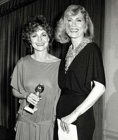 Jan. 26, 1985: With presenter Faye Dunaway and her Golden Globe for