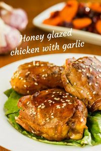 Recipe for honey glazed chicken with garlic, a very easy and different chicken recipe to enjoy with family and friends. Recipe For Honey Glazed Chicken, Garlic Chicken Recipes, Honey Chicken, Healthy Chicken, Healthy Diet Recipes, Easy Healthy Dinners, Vegetarian Recipes, Different Chicken Recipes, Golden Doodle
