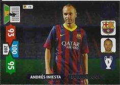 Champions League Adrenalyn XL 2013/2014 Andres Iniesta 13/14 Game Changer #laliga #championsleague