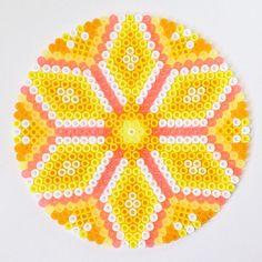 Sunshine - Hama perler bead mandala by coriander_dk