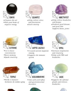 12 Healing Crystals and Their Meanings + Uses