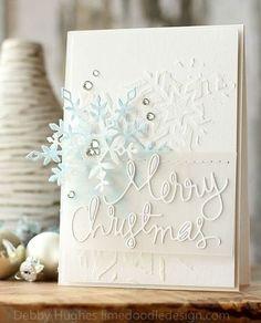 Handmade Cards - Paper Crafts - Lime Doodle Design - Debby Hughes - Part 4 Christmas Sentiments, Christmas Greeting Cards, Christmas Greetings, Greeting Cards Handmade, Holiday Cards, Merry Christmas, Elegant Christmas, Snowflake Cards, Christmas Snowflakes