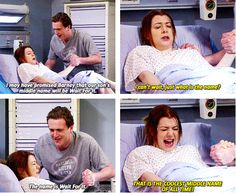 The borning of Marvin Wait For It Eriksen. Tv Show Couples, Movie Couples, I Meet You, Told You So, Cool Middle Names, Marshall Eriksen, Marshall And Lily, How Met Your Mother, Himym